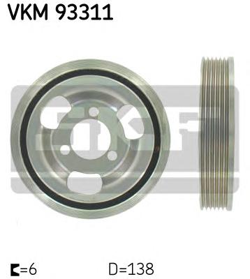 VKM93311 Шкив коленвала BMW/MINI/PEUGEOT/CITROEN 1.4/1.6 06-