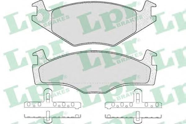 05P225 Колодки тормозные VOLKSWAGEN G2 1.6/G3 1.4/1.6/1.9D передние
