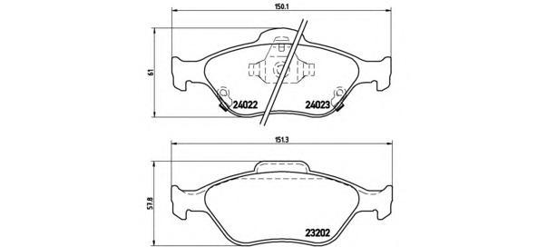 P83085 Колодки тормозные TOYOTA YARIS 1.0-1.4 06- передние