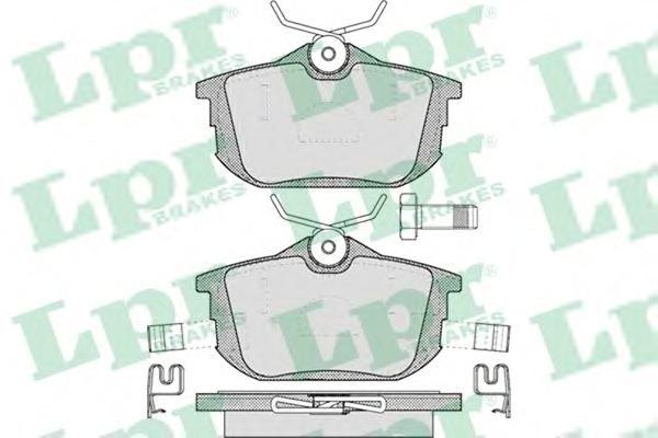 05P621 Колодки тормозные MITSUBISHI COLT 04/SMART FORFOUR 05/VOLVO S40/V40 задние