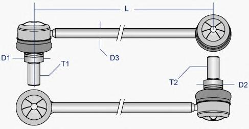 TOLS2993 Тяга стабилизатора TOYOTA RAV 4 00- пер.подв.лев/прав.