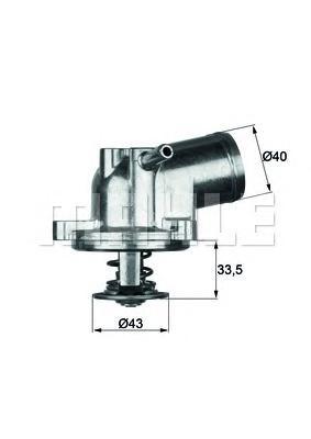 TI2187 Термостат MB W202/S202/C208/W210/SPRINTER 1.8-2.3 96-01