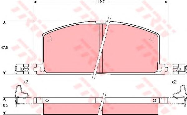 GDB323 Колодки тормозные TOYOTA CAMRY/CARINA/COROLLA 83-92 передние
