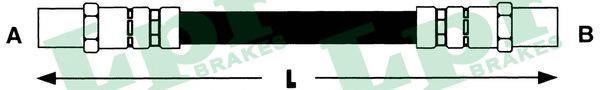 6T46155 Шланг тормозной T2/LT