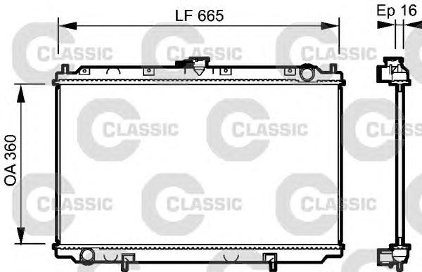 232528 Радиатор CLASSIC NISSAN Primera P11 1.6,2.0 96-02