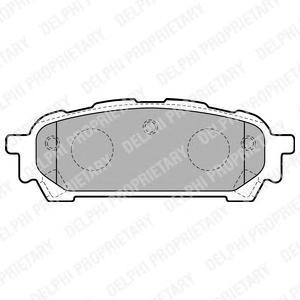 LP1822 Колодки тормозные SUBARU IMPREZA 2.0 11.02- задние