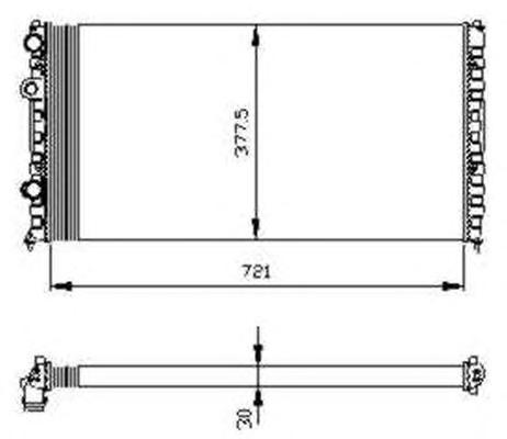 54696 Радиатор VW Ps IV 2.8 VR6 93-