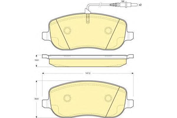 6115031 Колодки тормозные CITROEN C8/JUMPY/PEUGEOT 807/EXPERT 2.0-2.2 передние