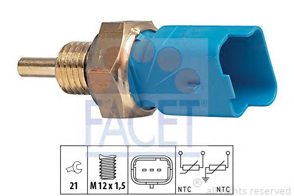 73291 Датчик температуры охлаждающей жидкости CITROEN: BERLINGO (MF) 1.1 i (MFHDZ)/1.4 GNC/1.4 bivalent/1.4 i (MFKFX)/1.6 16V (M