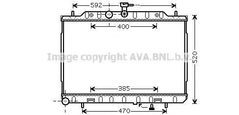 dn2293 Радиатор системы охлаждения NISSAN: X-TRAIL (T31) 2.0 dCi 07 -