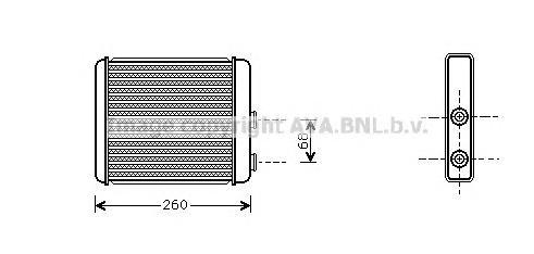 OL6259 Радиатор отопителя OPEL ASTRA G 1.6-2.0 01-05