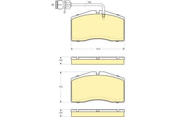 6115069 Колодки тормозные AUDI A8/S8 QUATTRO 95-02 передние