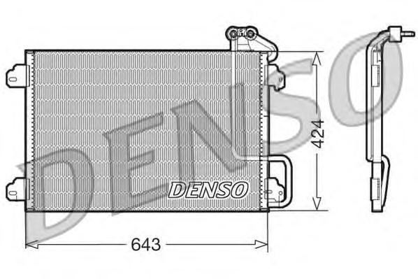 DCN23013 Радиатор кондиционера RENAULT: MEGANE I (BA0/1) 1.9 dTi (BA08, BA0N) 95 - 03 , MEGANE I Classic (LA0/1) 1.9 dTi (LA08,