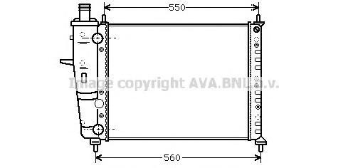 FTA2230 Радиатор FIAT BRAVA 1.2 98-02