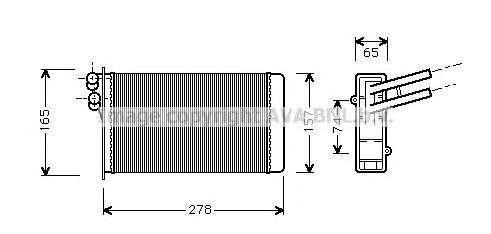 AI6097 Радиатор отопителя VAG A4/PASSAT/SUPERB 1.6-4.0/1.9TD/2.5TD 94-08