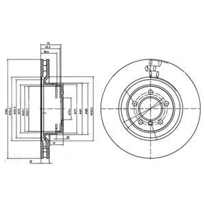 BG9009 Диск тормозной LAND ROVER RANGE ROVER 3.6-5.0 05- передний D=360мм.