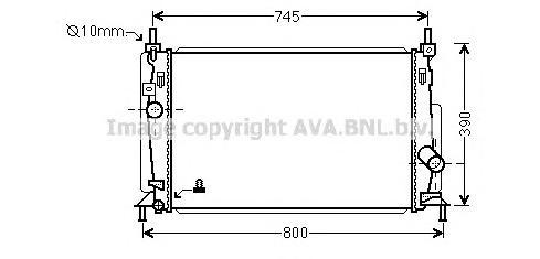 MZ2237 Радиатор MAZDA 3 2.0/2.5 09-