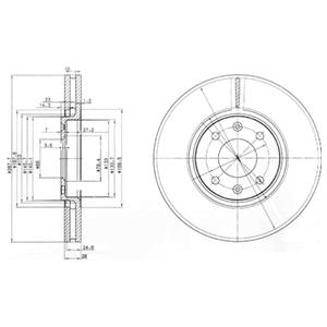 BG3675 Диск тормозной CITROEN C5 2.0-3.0 01-/XANTIA 1.9-3.0 94-03 передний вент.D=288мм