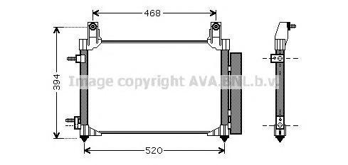DW5081 Конденсер CHEVROLET MATIZ/SPARK 0.8/1.0 98-