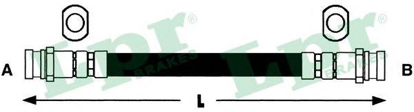 """6T46436 Шланг торм M10x1x180 mm пер. PAJERO 91""""-"""