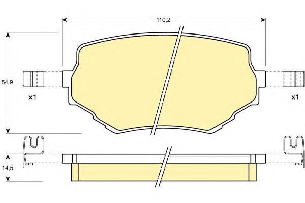 6131329 Колодки тормозные SUZUKI VITARA/GRAND VITARA 94- передние