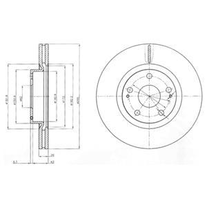 BG4113 Диск тормозной TOYOTA AVENSIS 2.0-2.4 03- передний вент.
