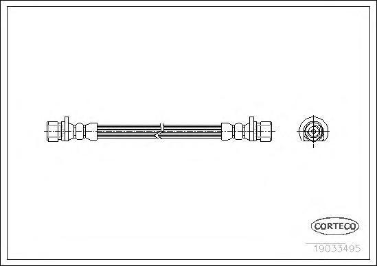 19033495 Шланг торм. Re 300мм Honda Civic VII купе 01-05