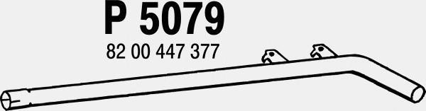 P5079 Трубопровод выпускной RENAULT SCENIC / MEGANE 1.9D 03-