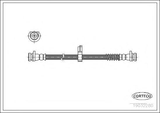 19032280 Шланг тормозной LAND ROVER: FREELANDER 1.8 16V 4x4/1.8 i 16V 4x4/2.0 DI 4x4/2.0 Td4 4x4 98-06