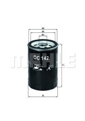 OC142 Фильтр масляный PORSCHE 924/944/968
