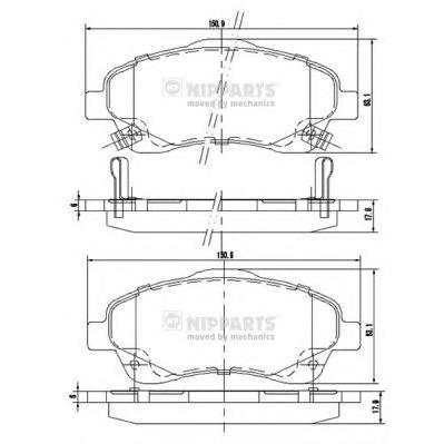 J3602112 Колодки тормозные TOYOTA AVENSIS 03/COROLLA VERSO 1.8/2.0D/2.2D пер.