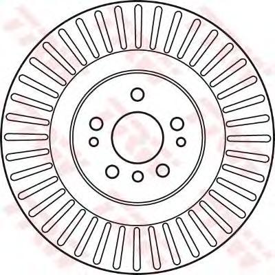 DF6013S Диск тормозной MERCEDES ML W164/GL X164/R W251 05- передний вент. D=350мм.