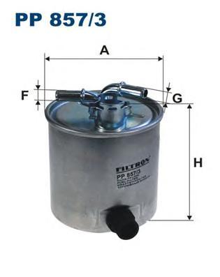 PP8573 Фильтр топливный NISSAN QASHQAI/X-TRAIL/RENAULT KOLEOS 2.0D 07-