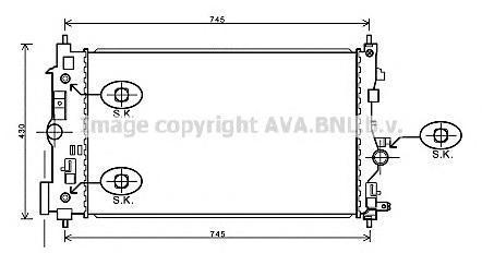 OL2546 Радиатор OPEL ASTRA J /CHEVROLET CRUZE 1.4-1.6 A/T 09-