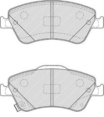 FDB4046 Колодки тормозные TOYOTA AURIS 1.33-2.2 07- (Великобритания) передние