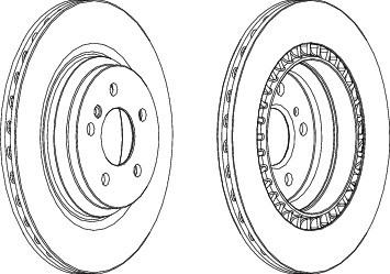 DDF1771C Диск тормозной MERCEDES W221/C216 задний вент.D=320мм.
