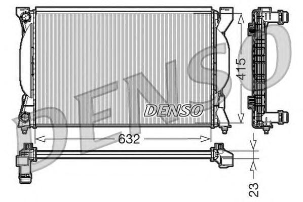 DRM02035 Радиатор системы охлаждения AUDI: A4 (8E2, B6) 1.6/1.8 T/1.8 T quattro/2.0/2.0 FSI 00 - 04 , A4 Avant (8E5, B6) 1.6/1.8