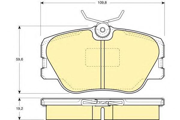 6108181 Колодки тормозные MERCEDES BENZ W201/W124 без датчика передние