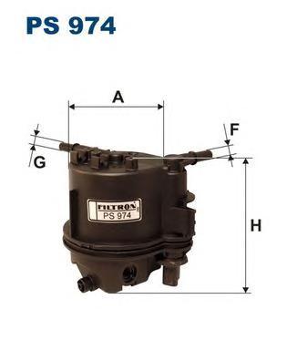 PS974 Фильтр топливный PEUGEOT 206/CITROEN C3/FORD FIESTA/MAZDA 2 1.4HDI
