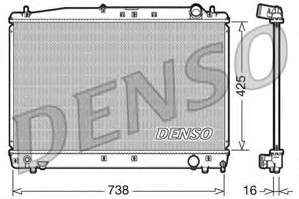DRM50033 Радиатор системы охлаждения TOYOTA: AVENSIS 2.0 / AVENSIS VERSO 2.0
