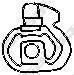 255026 Подвеска глушителя RENAULT 19 1.8-1.9 92-95