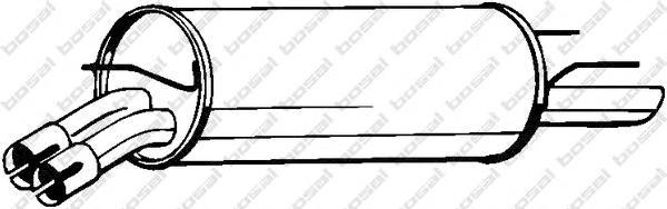185713 Глушитель OPEL OMEGA B 2.2 99-03