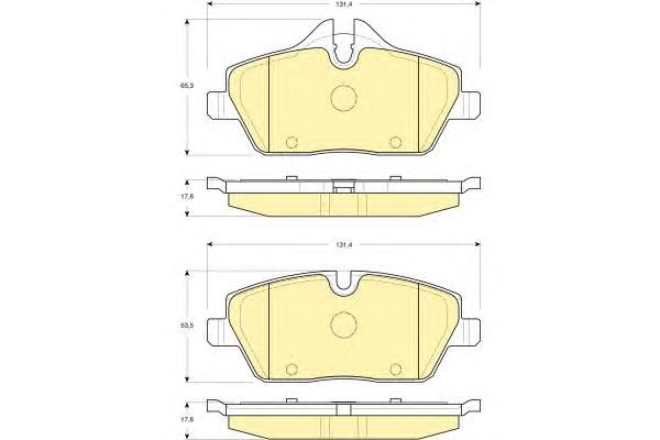 6116111 Колодки тормозные BMW E81/E87/MINI COOPER 04- передние