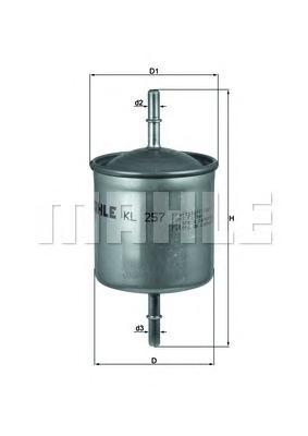 KL257 Фильтр топливный VOLVO S60/S80/V70/XC 90 2.0-3.2