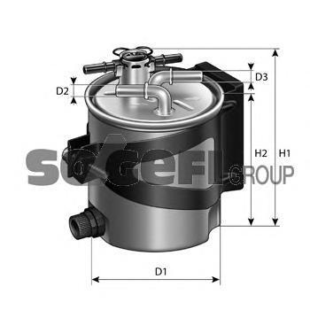 FCS740 Фильтр топливный RENAULT: GRAND SCENIC II 04-, MEGANE II 02-, MEGANE II Coupe-Cabriolet 03-, MEGANE II седан 03-, MEGANE