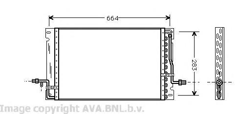VO5076 Конденсер VOLVO 850 2.0/2.5 91-98