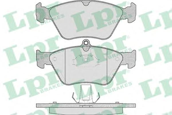 05P465 Колодки тормозные OPEL OMEGA B/VECTRA A/SAAB 900 93-98 передние