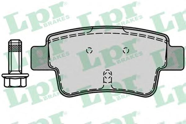 05P1224 Колодки тормозные дисковые задн FIAT: GRANDE PUNTO 05-