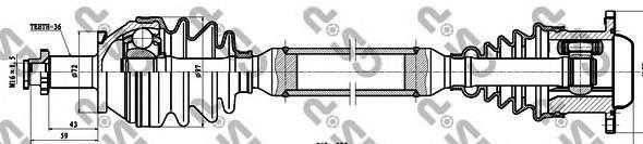 261099 Привод в сборе VW POLO IV/SKODA FABIA 1.4TDI-1.9TDI 00- прав.