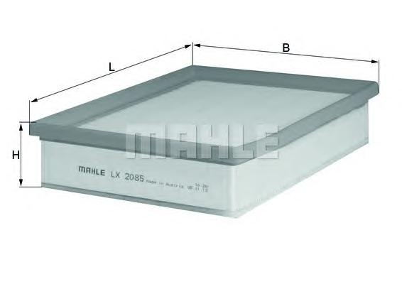 LX2085 Фильтр воздушный RENAULT LAGUNA 1.5D/2.0D